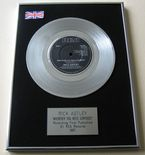 RICK ASTLEY - WHENEVER YOU NEED SOMEBODY PLATINUM single presentation DISC